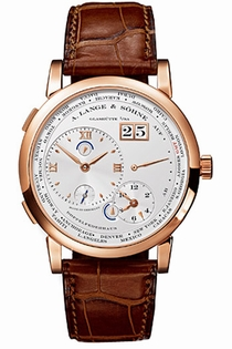 A. Lange & Sohne 116.032 Offset Home Time Silver