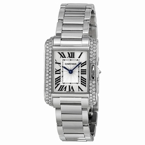 Cartier Tank WT100008 18kt Rhodiumised White Gold