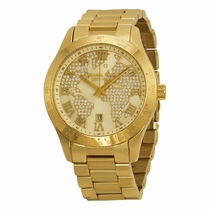 Michael Kors Layton MK5959 Pave-Embellished With an Engraved Map