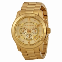 Michael Kors Runway MK8077 Gold-tone Stainless Steel