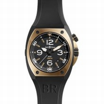 Bell and Ross Marine BR02-PINKGOLD-CA-DNR Solid 18K Rose Gold & Black PVD Steel