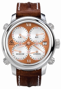 Jacob & Co. Five Time Zone h24r Rose Guilloche
