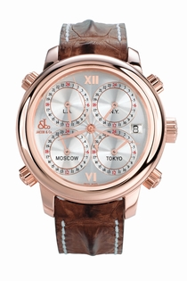 Jacob & Co. Five Time Zone h24rgSg 18k Rose Gold