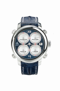 Jacob & Co. Five Time Zone h24SSBL Blue Enamel