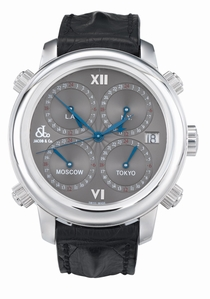 Jacob & Co. Five Time Zone h24SSLS Stainless Steel