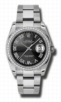 Rolex Datejust 116244BKSBRO Stainless Steel