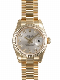 Rolex Lady Datejust 179178SDP 18k Yellow Gold